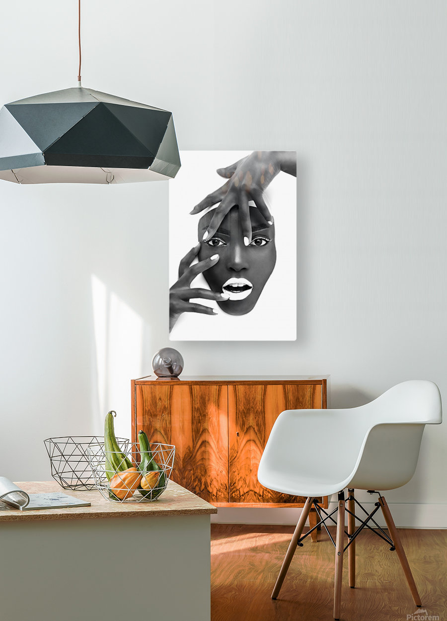 Succulent Silk  HD Metal print with Floating Frame on Back
