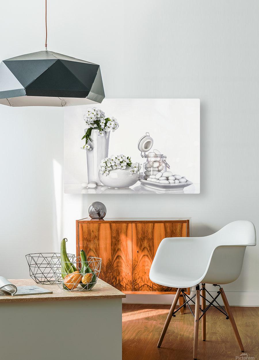 porcelain  HD Metal print with Floating Frame on Back