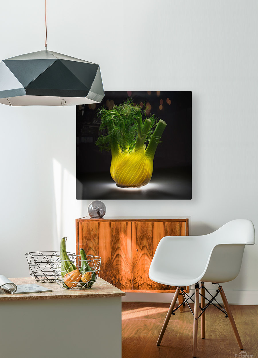 Fennel  HD Metal print with Floating Frame on Back