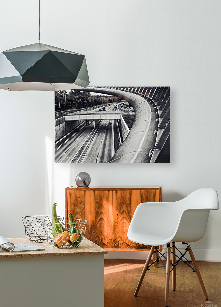 circulation  HD Metal print with Floating Frame on Back