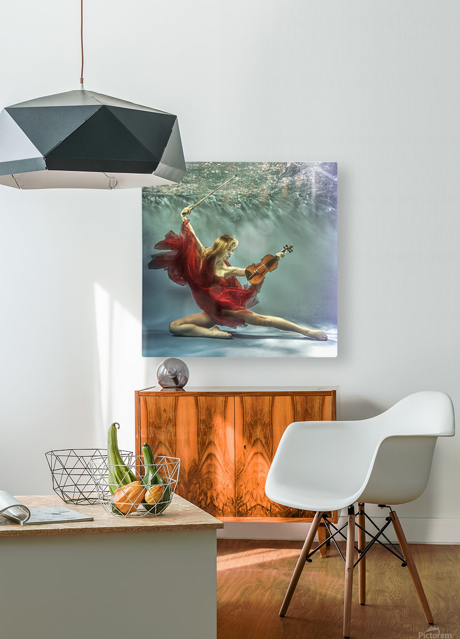 Prelude  HD Metal print with Floating Frame on Back