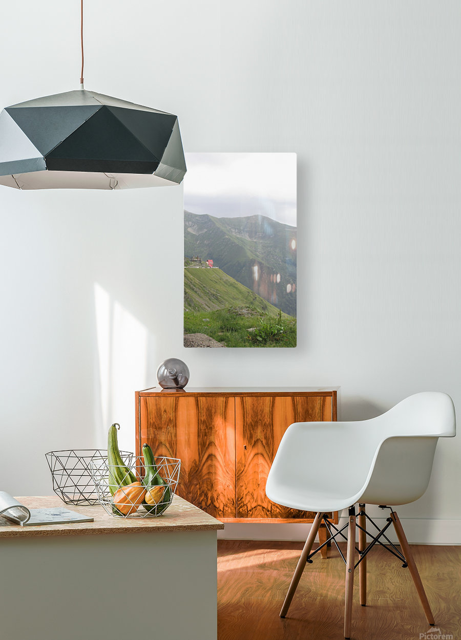 Landscape with mountain view at 2000 m altitude  HD Metal print with Floating Frame on Back