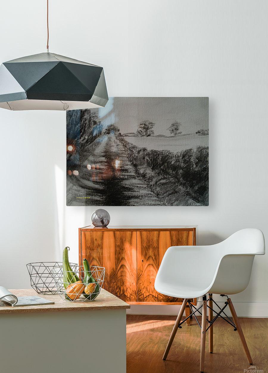 An English Lane  HD Metal print with Floating Frame on Back