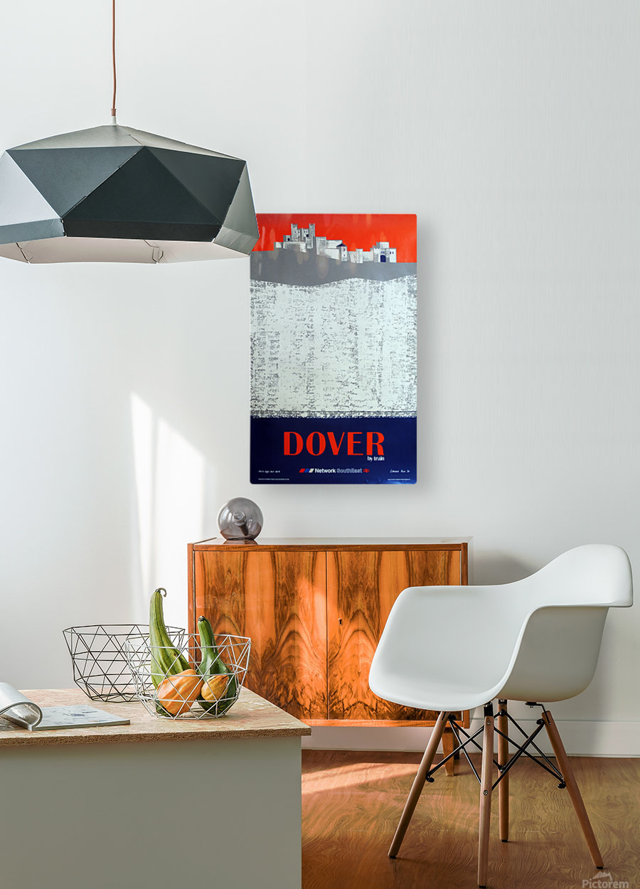 Dover by Train  HD Metal print with Floating Frame on Back