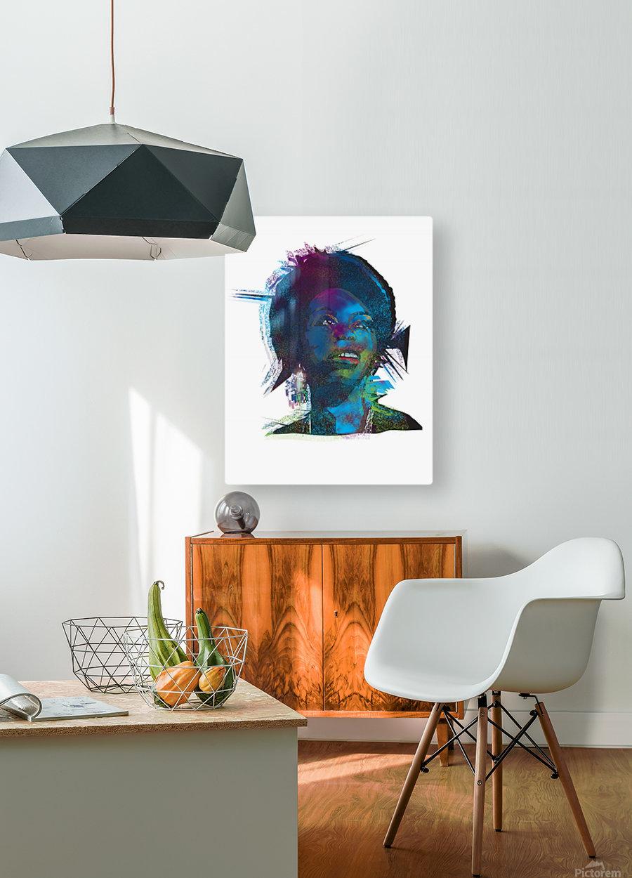 Nina Simon Art   HD Metal print with Floating Frame on Back