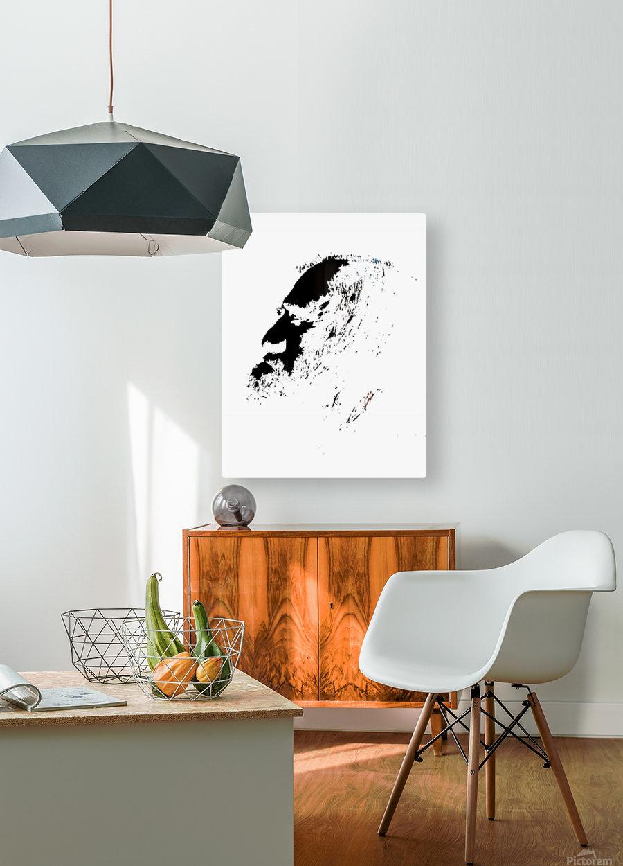 Monsieur  HD Metal print with Floating Frame on Back
