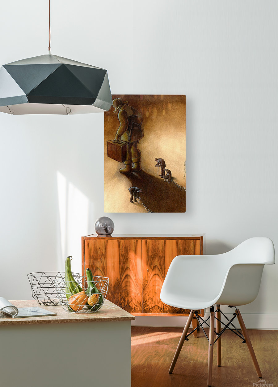 Try to stop  HD Metal print with Floating Frame on Back