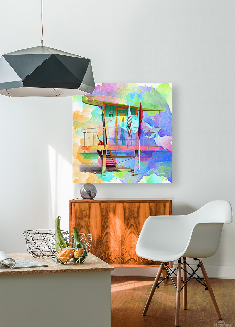Art208  HD Metal print with Floating Frame on Back