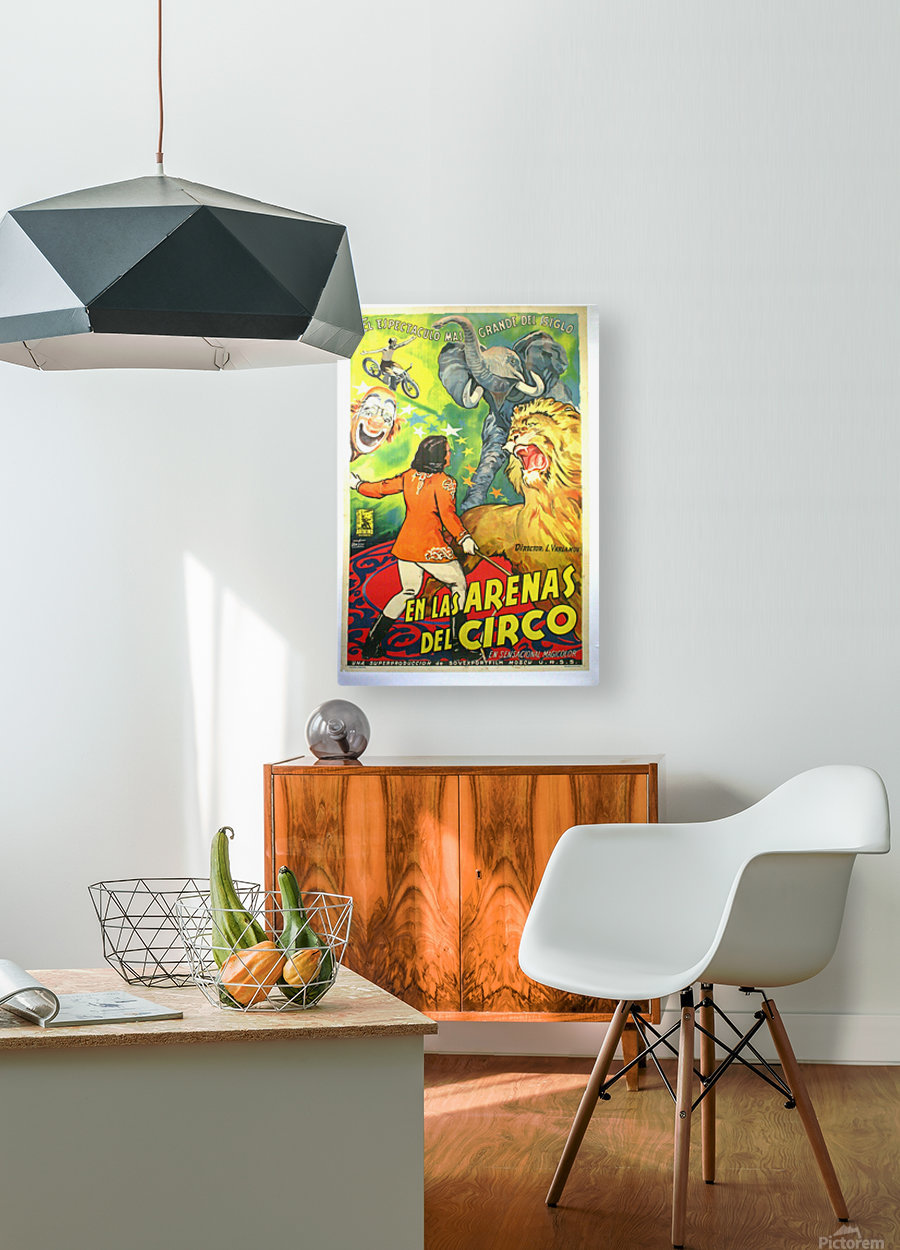 Argentinian Circus Poster  HD Metal print with Floating Frame on Back