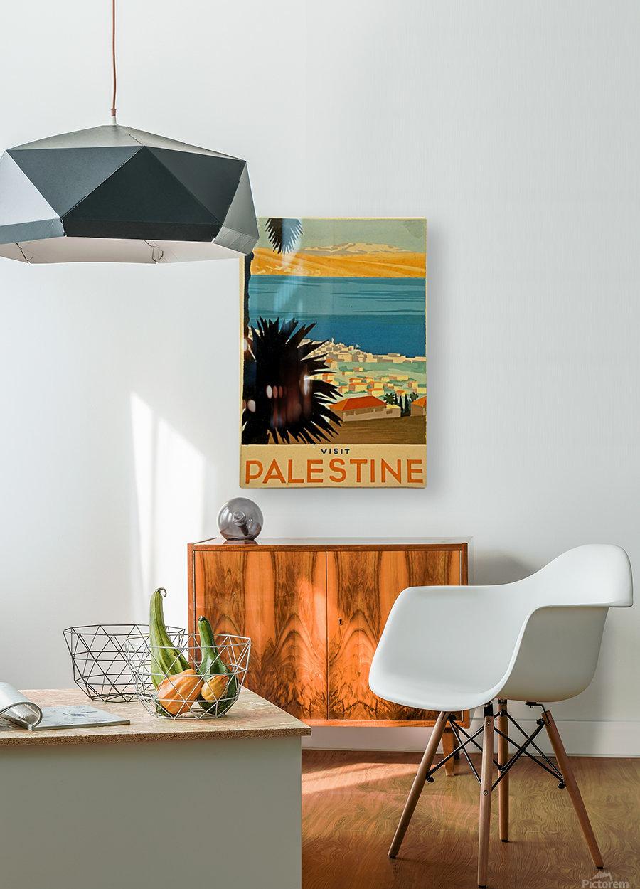 Visit Palestine  HD Metal print with Floating Frame on Back