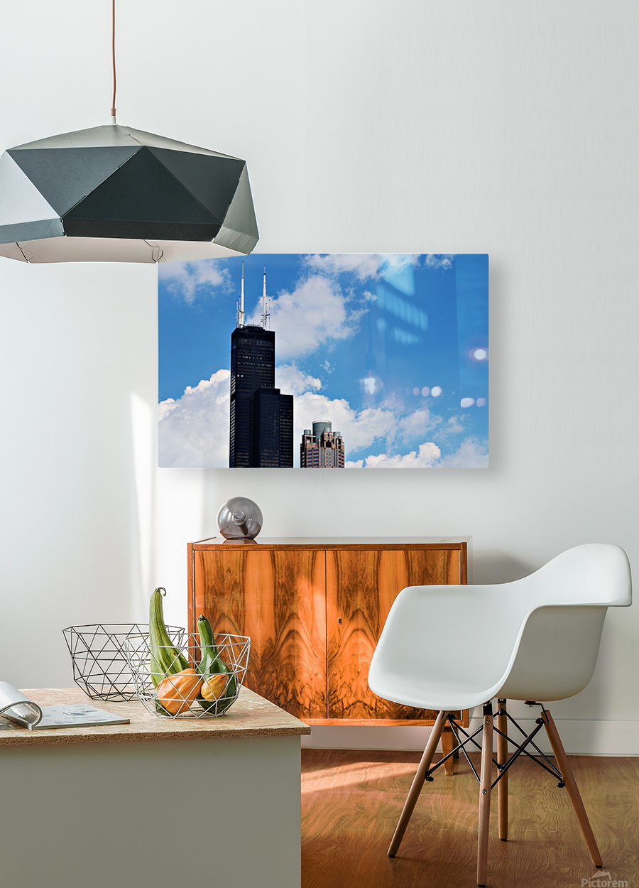 Willis Tower  HD Metal print with Floating Frame on Back