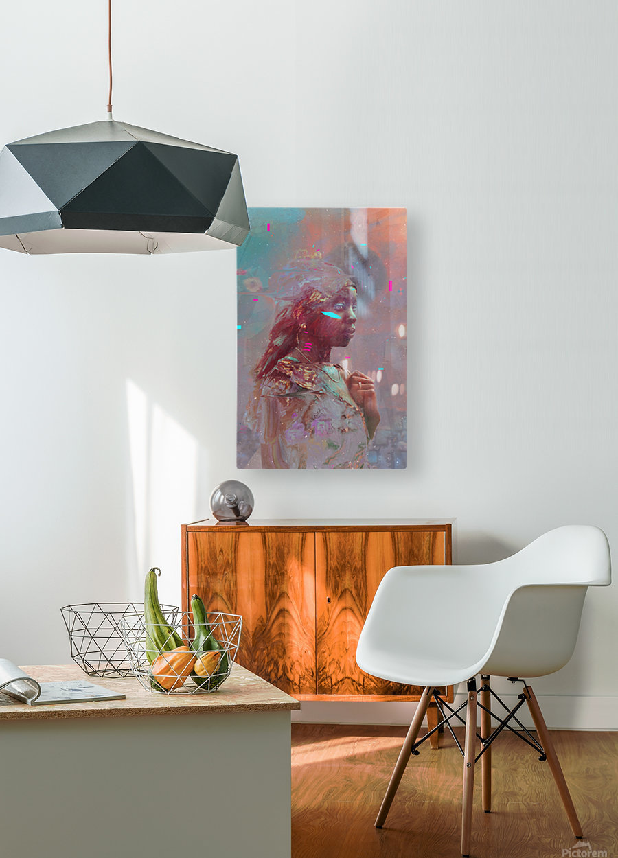 africa   HD Metal print with Floating Frame on Back