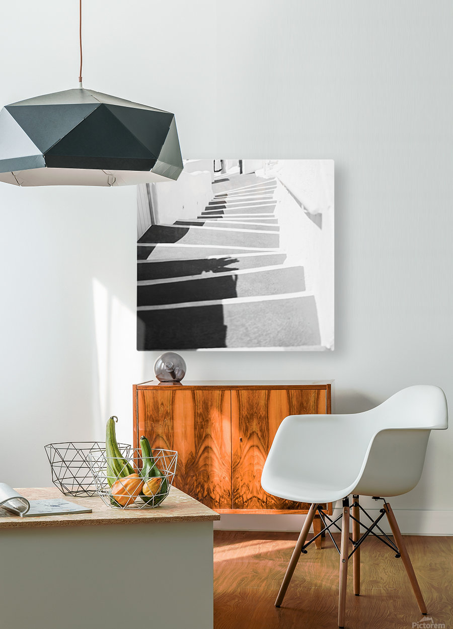 Stairs  HD Metal print with Floating Frame on Back