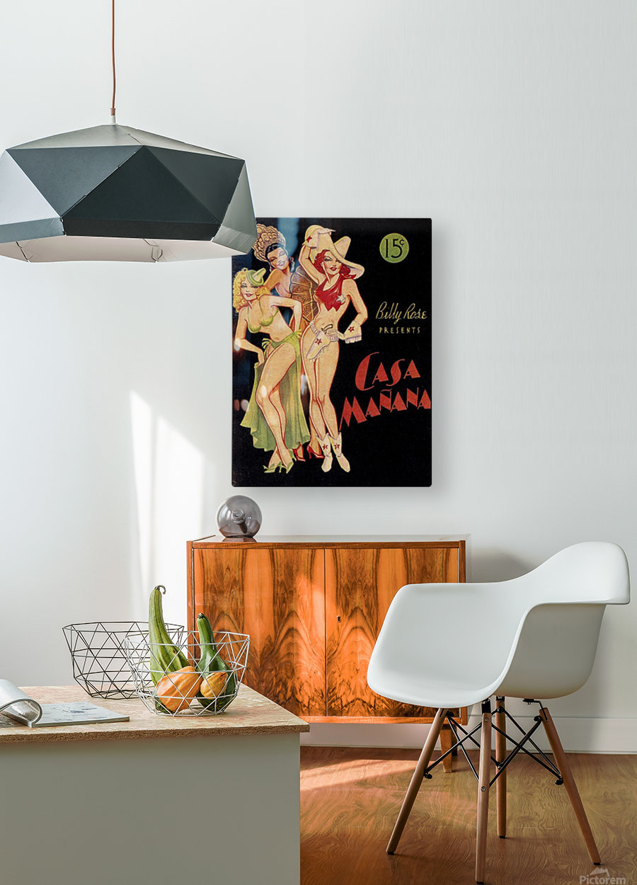 Billy Rose presents Casa Manana  HD Metal print with Floating Frame on Back