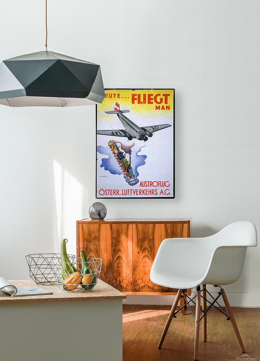 Austroflug  HD Metal print with Floating Frame on Back