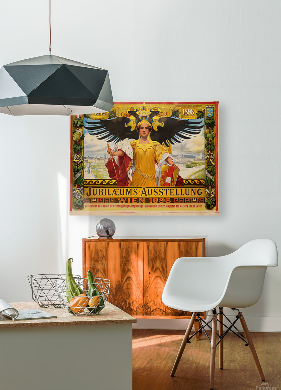 Jubilaeums Austellung Wien 1898  HD Metal print with Floating Frame on Back