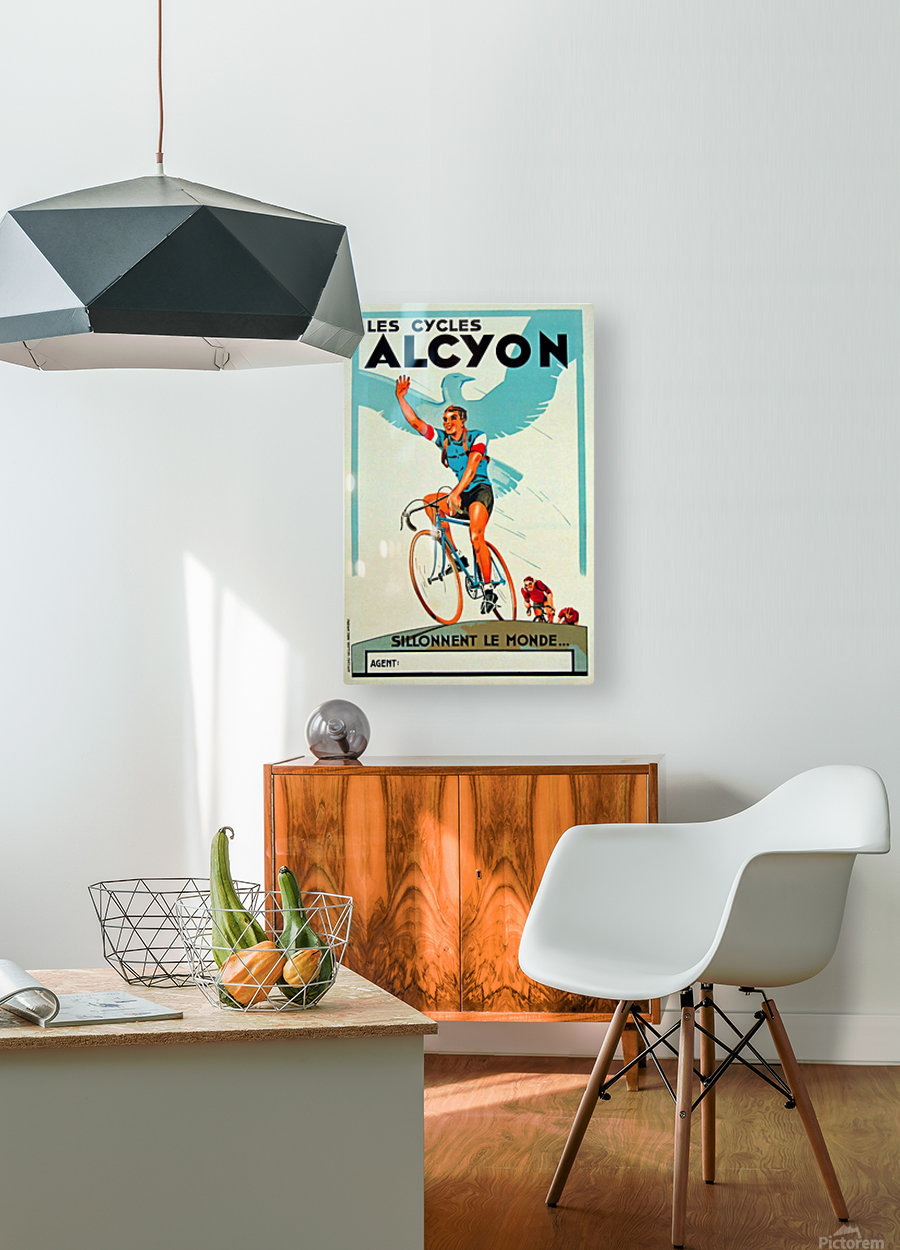 Alcyon Cycles  HD Metal print with Floating Frame on Back