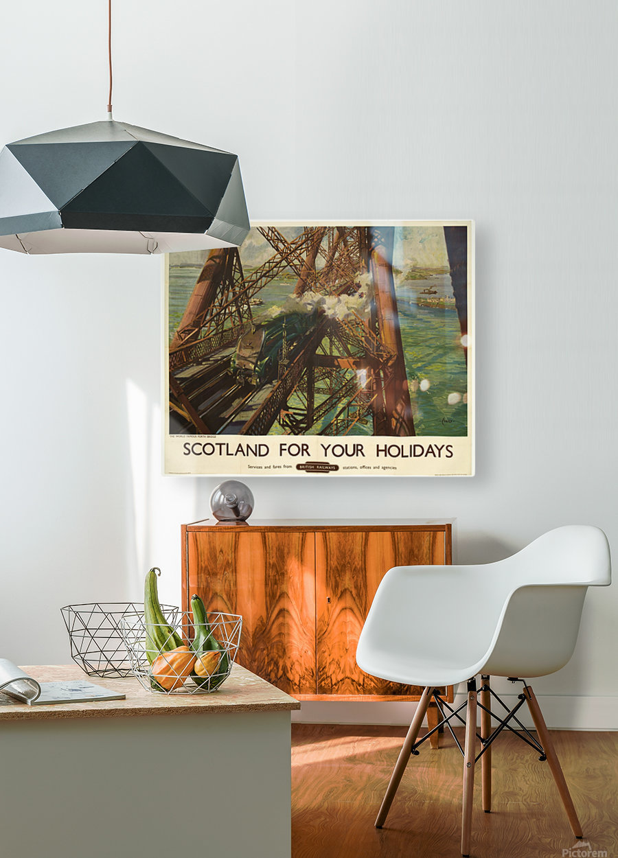 Scotland for your holidays  HD Metal print with Floating Frame on Back