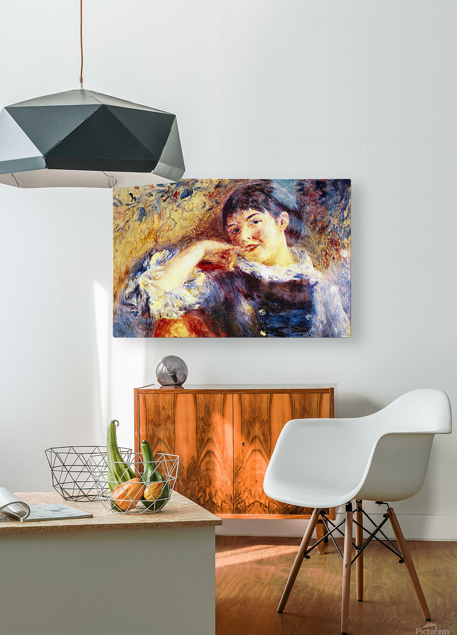 The Dreamer by Renoir  HD Metal print with Floating Frame on Back