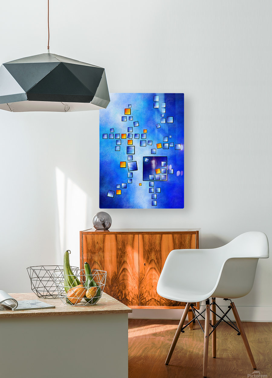 Cublerossia V1 - falling cubes  HD Metal print with Floating Frame on Back