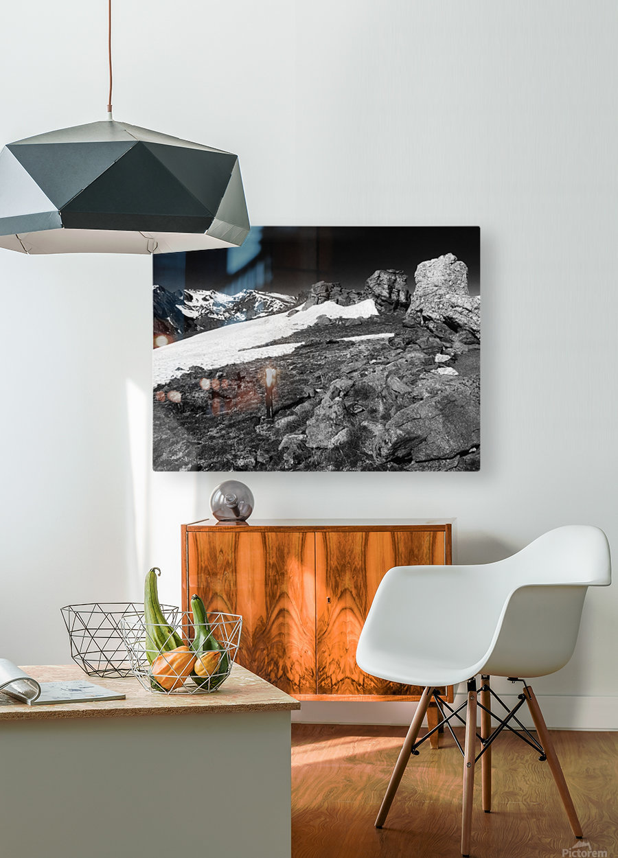 The Tundra  HD Metal print with Floating Frame on Back