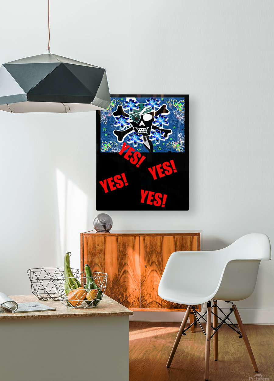 T251  HD Metal print with Floating Frame on Back