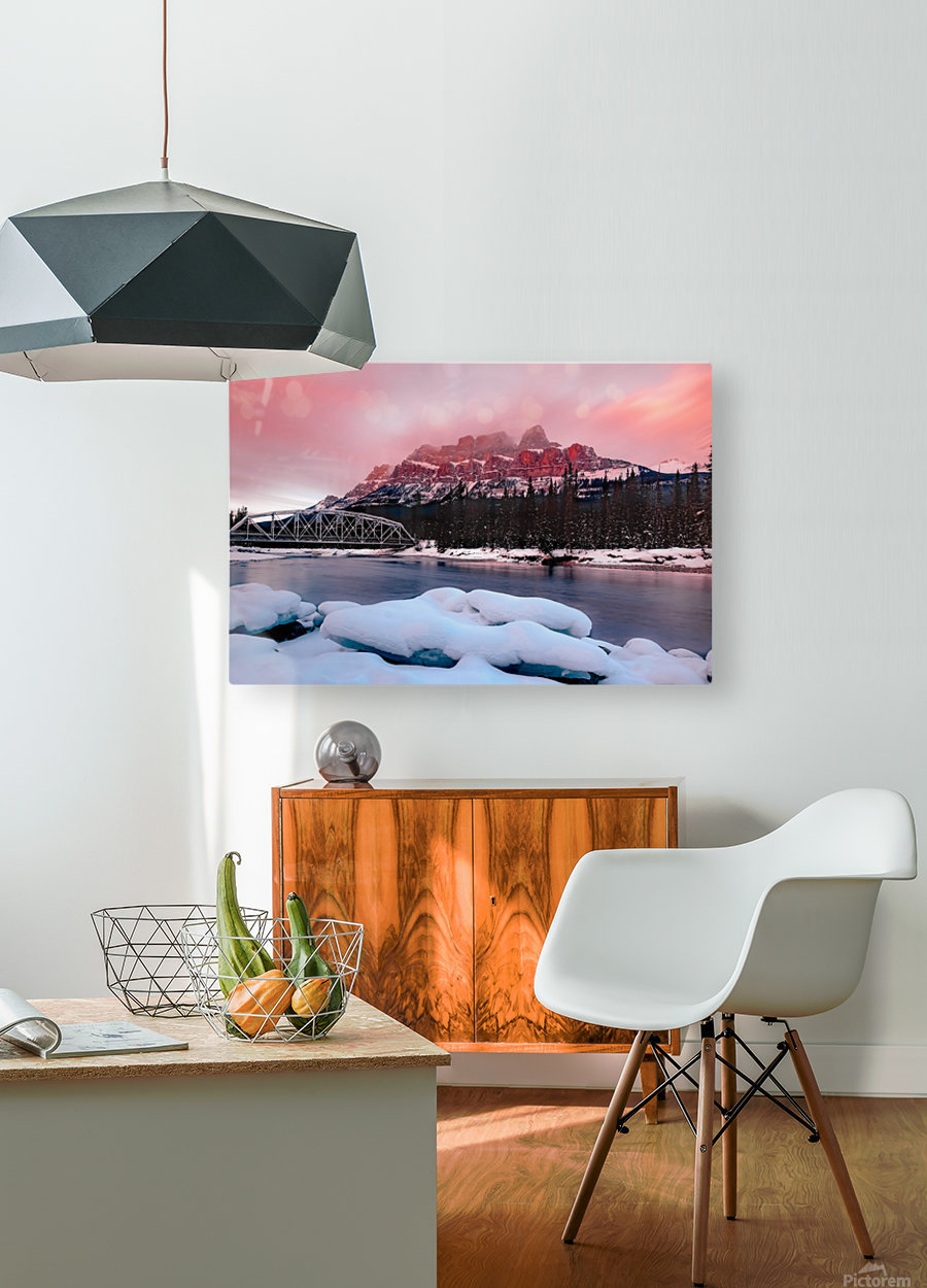 Castle  HD Metal print with Floating Frame on Back