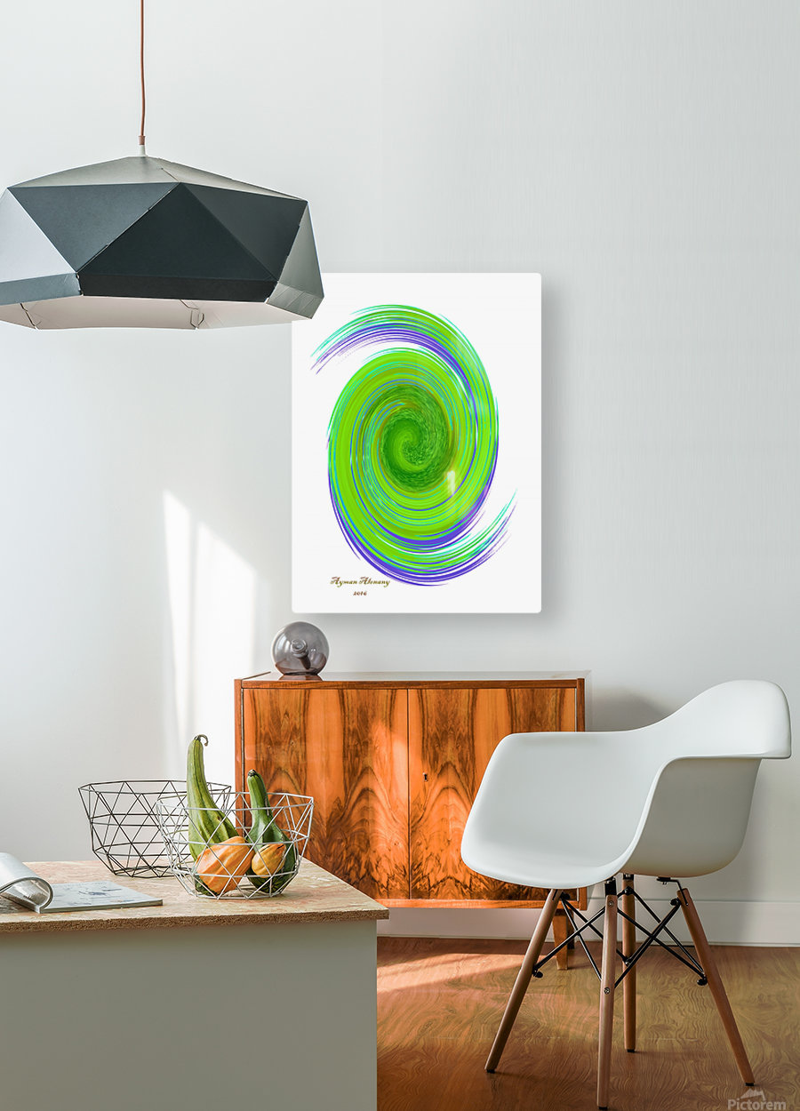 The whirl, W7.1A  HD Metal print with Floating Frame on Back