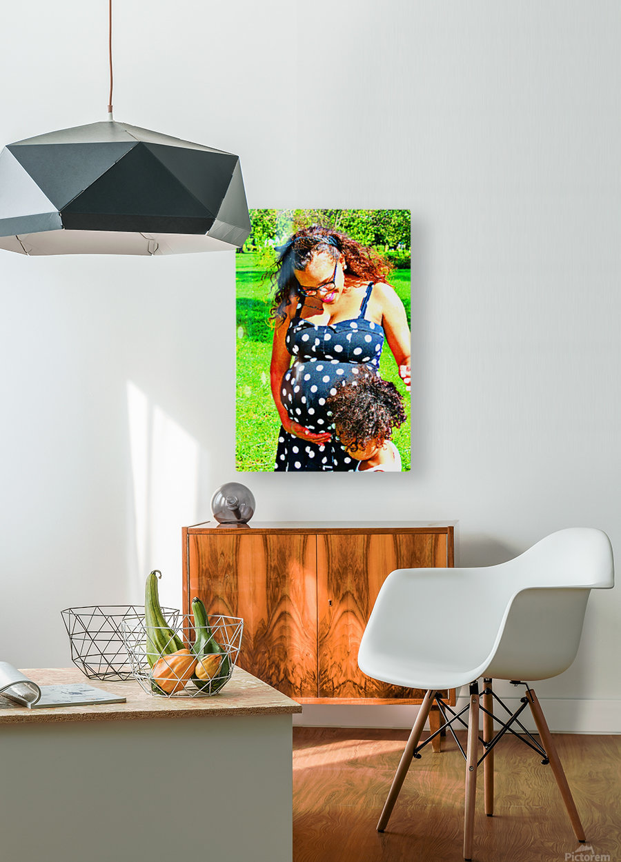 I Here Something  HD Metal print with Floating Frame on Back