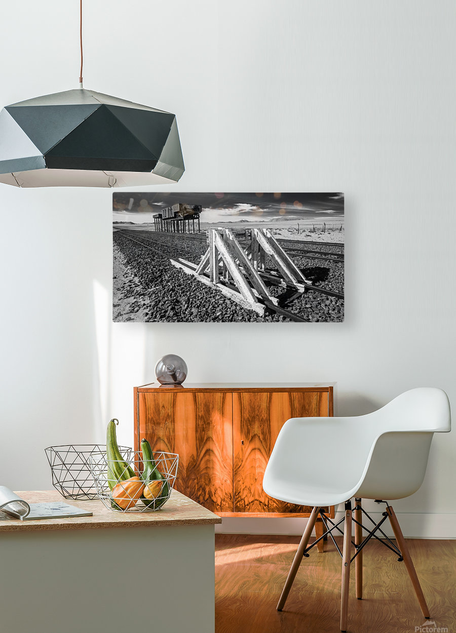 Refuelling Point   HD Metal print with Floating Frame on Back