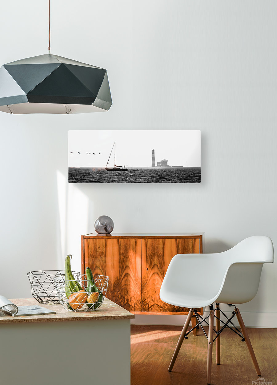 Passing by the Lighthouse  HD Metal print with Floating Frame on Back