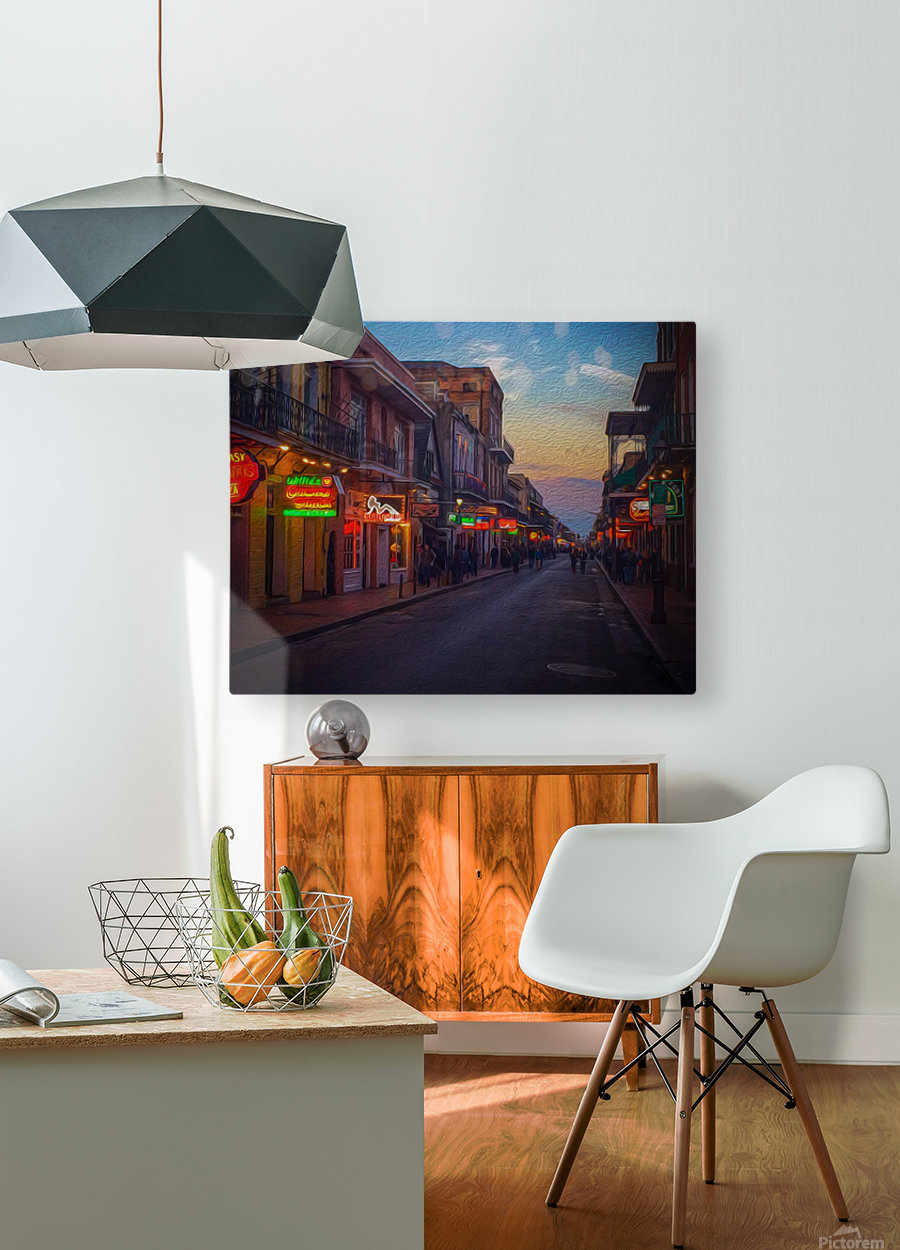 Evening in the Big Easy  HD Metal print with Floating Frame on Back