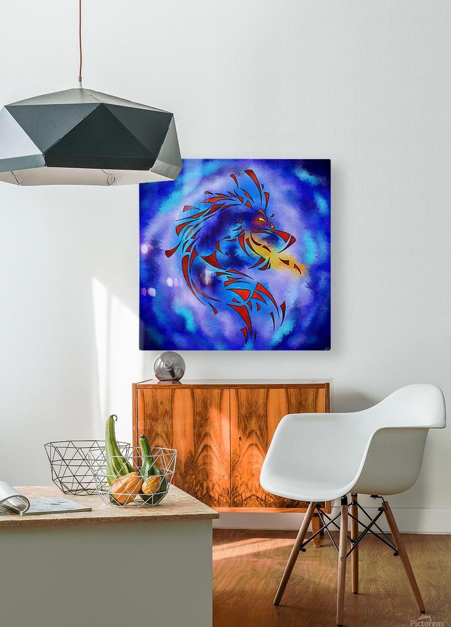 Glenfbach V1 - mystic dragon  HD Metal print with Floating Frame on Back