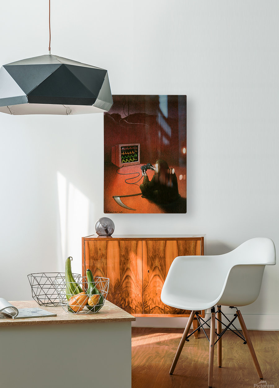 playstation  HD Metal print with Floating Frame on Back