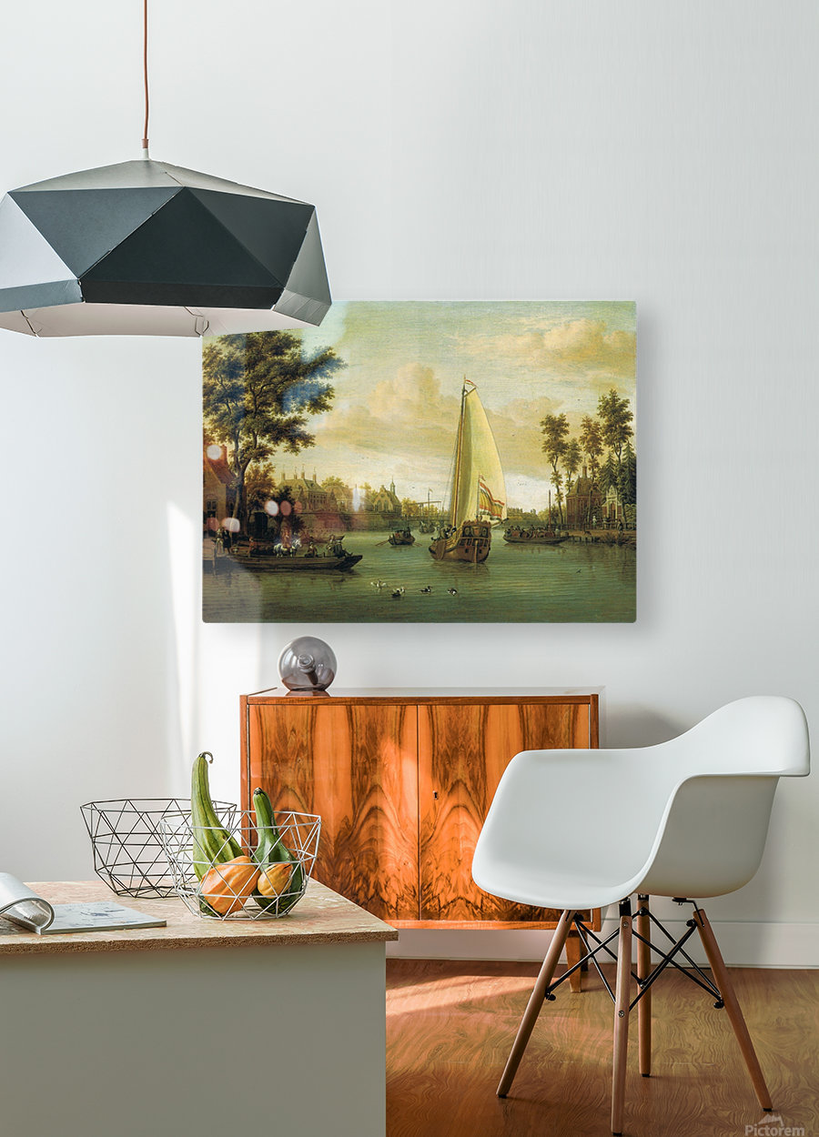 View of Maarsen on the Vecht  HD Metal print with Floating Frame on Back