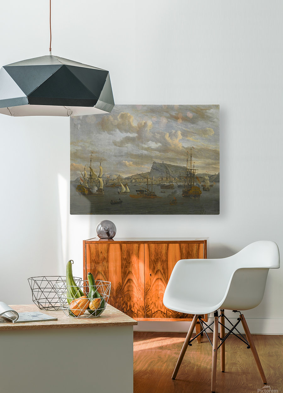 A view of Nafp  HD Metal print with Floating Frame on Back