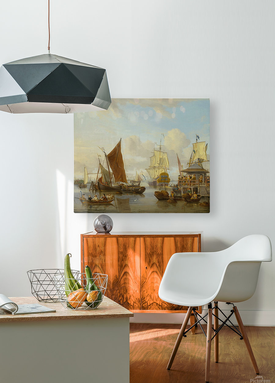 Shipping off Amsterdam  HD Metal print with Floating Frame on Back