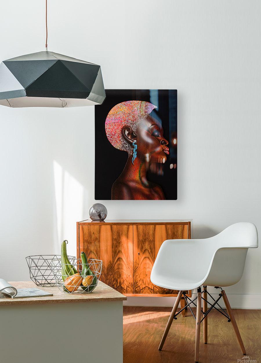 Nzinga  HD Metal print with Floating Frame on Back