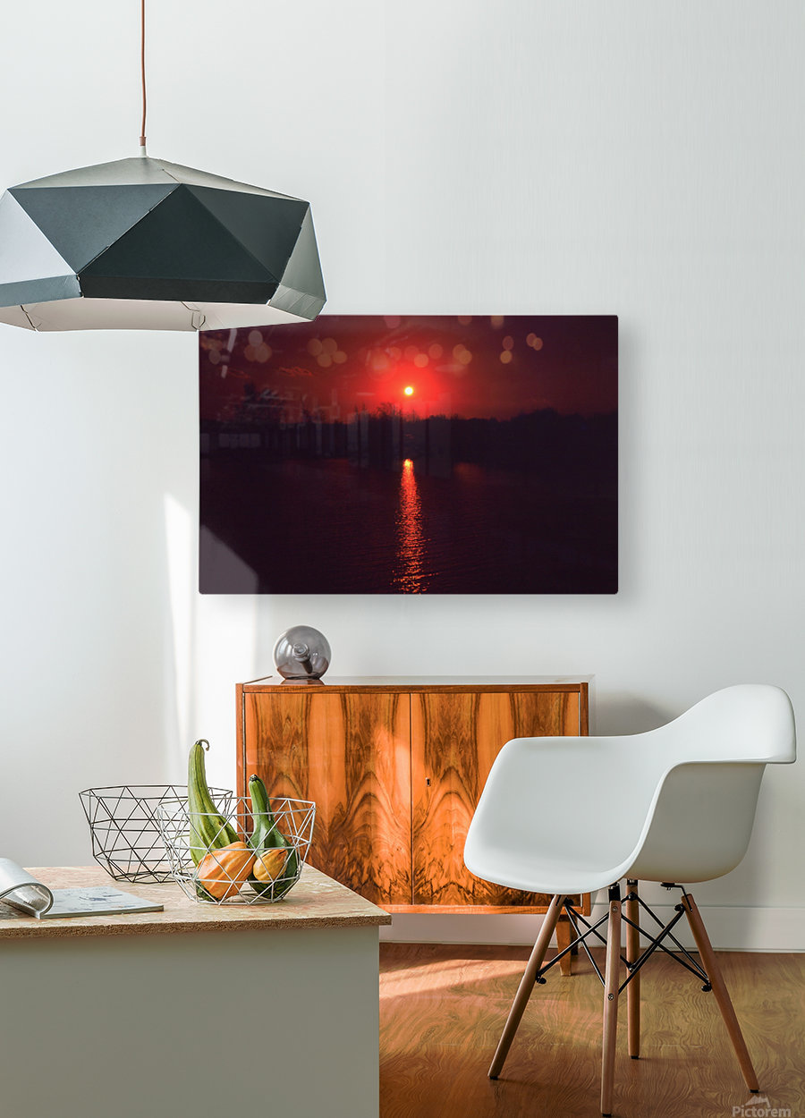 Sunset filter  HD Metal print with Floating Frame on Back