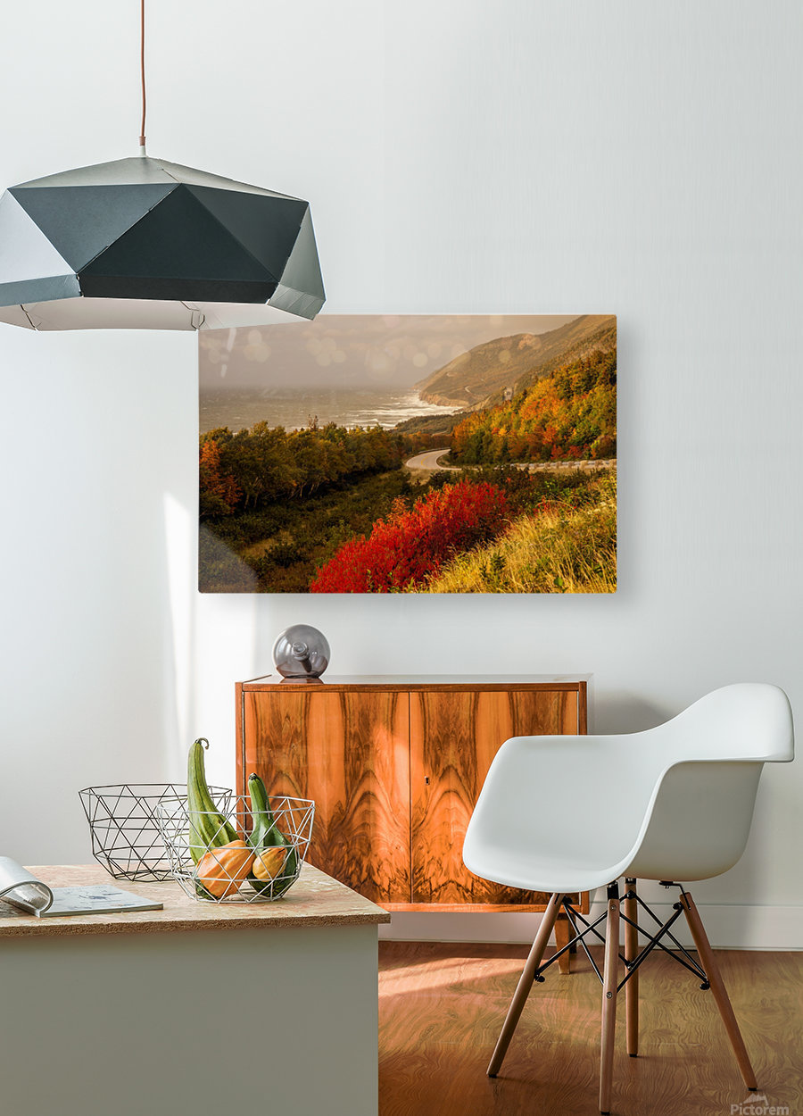 Autumn on the Cabot Trail  HD Metal print with Floating Frame on Back
