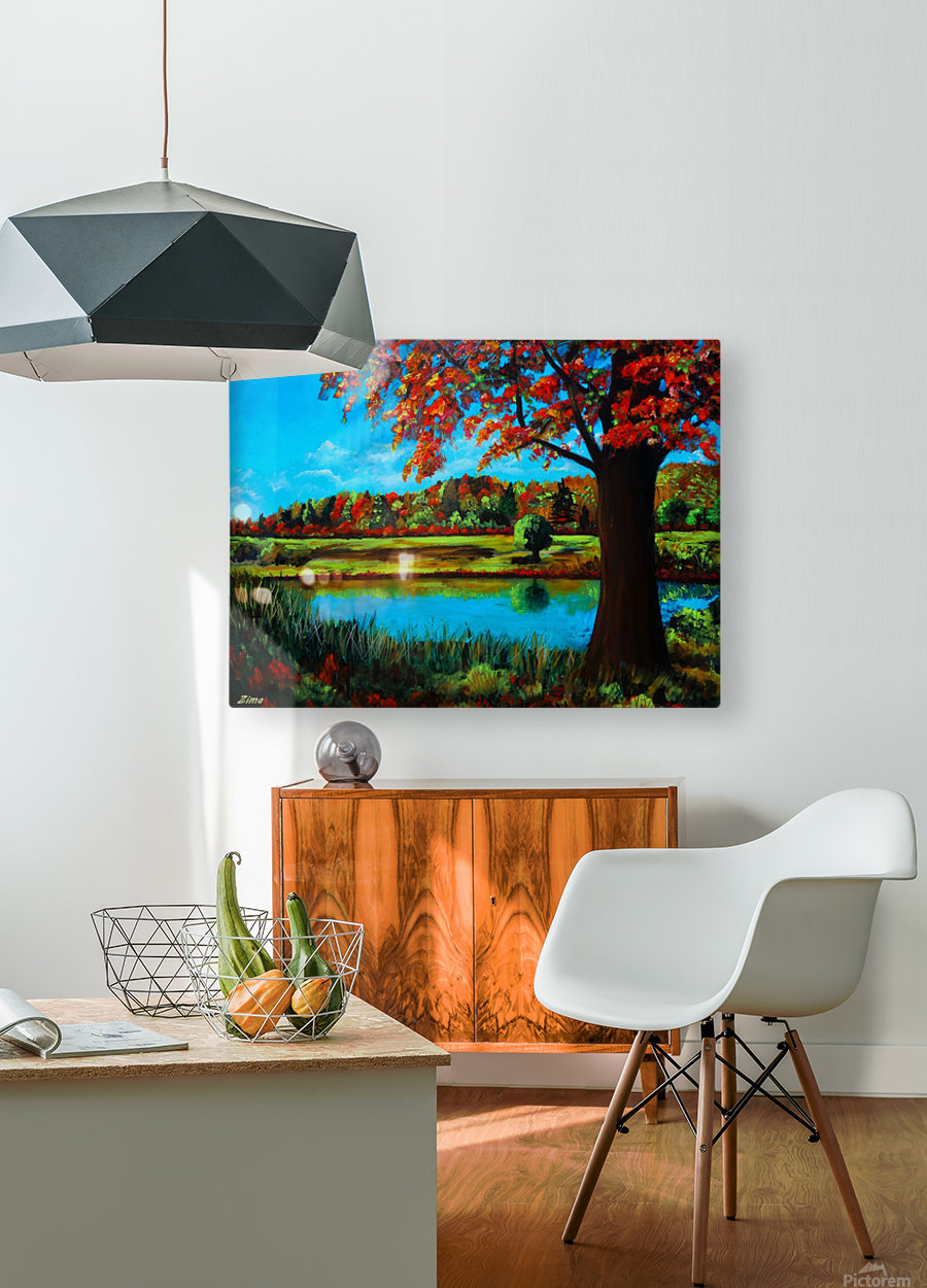 Autumn Song  HD Metal print with Floating Frame on Back