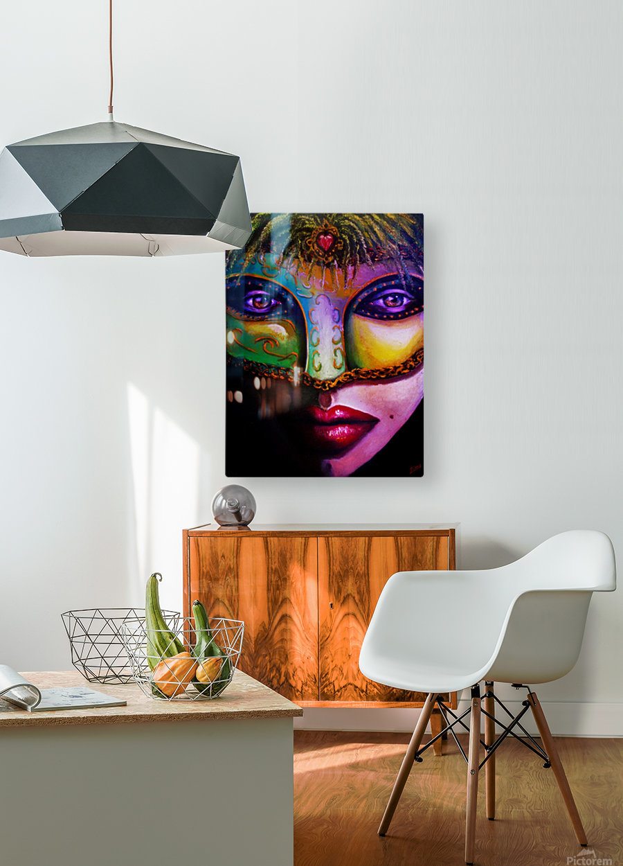 beneath the mask  HD Metal print with Floating Frame on Back