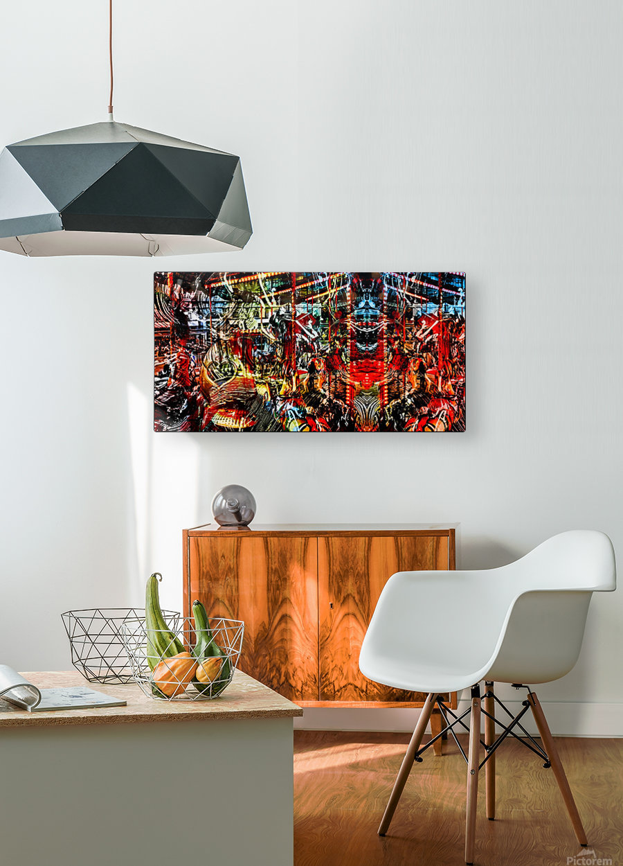 The World  Becomes a Blur  HD Metal print with Floating Frame on Back