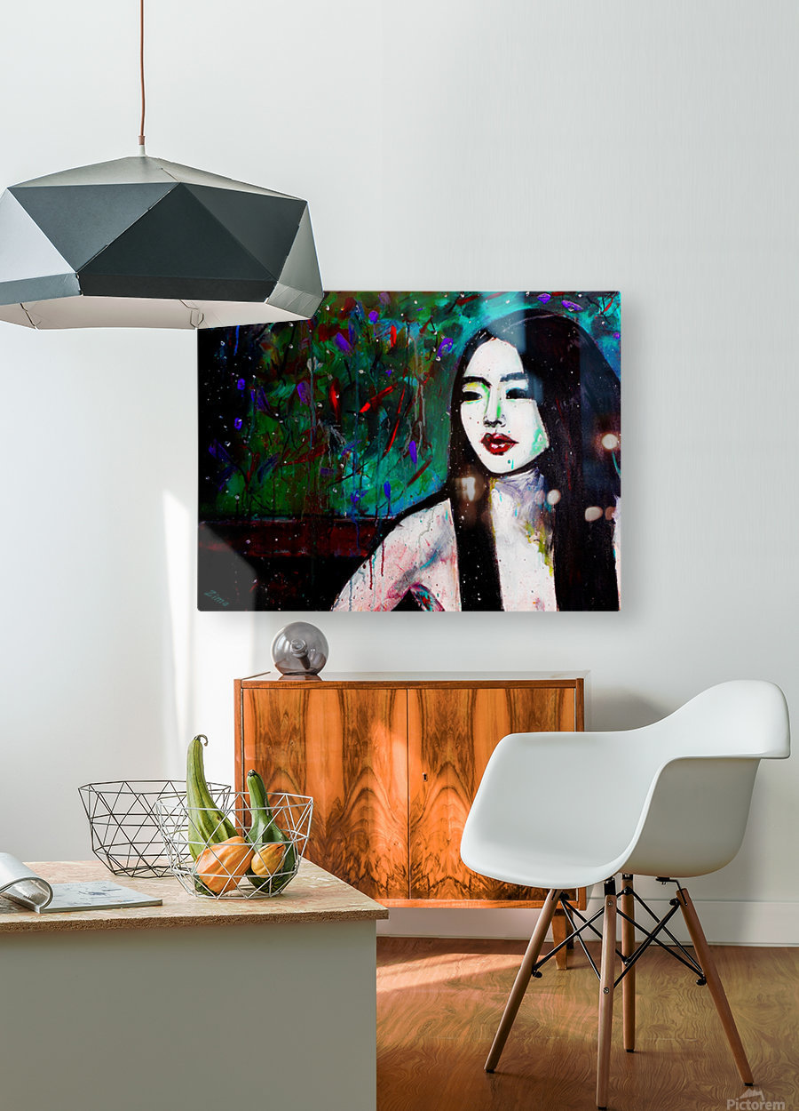 Asian Girl  HD Metal print with Floating Frame on Back