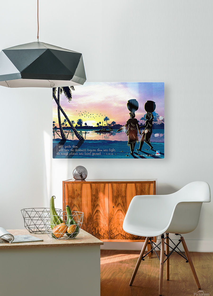 Riverside Maidens  HD Metal print with Floating Frame on Back