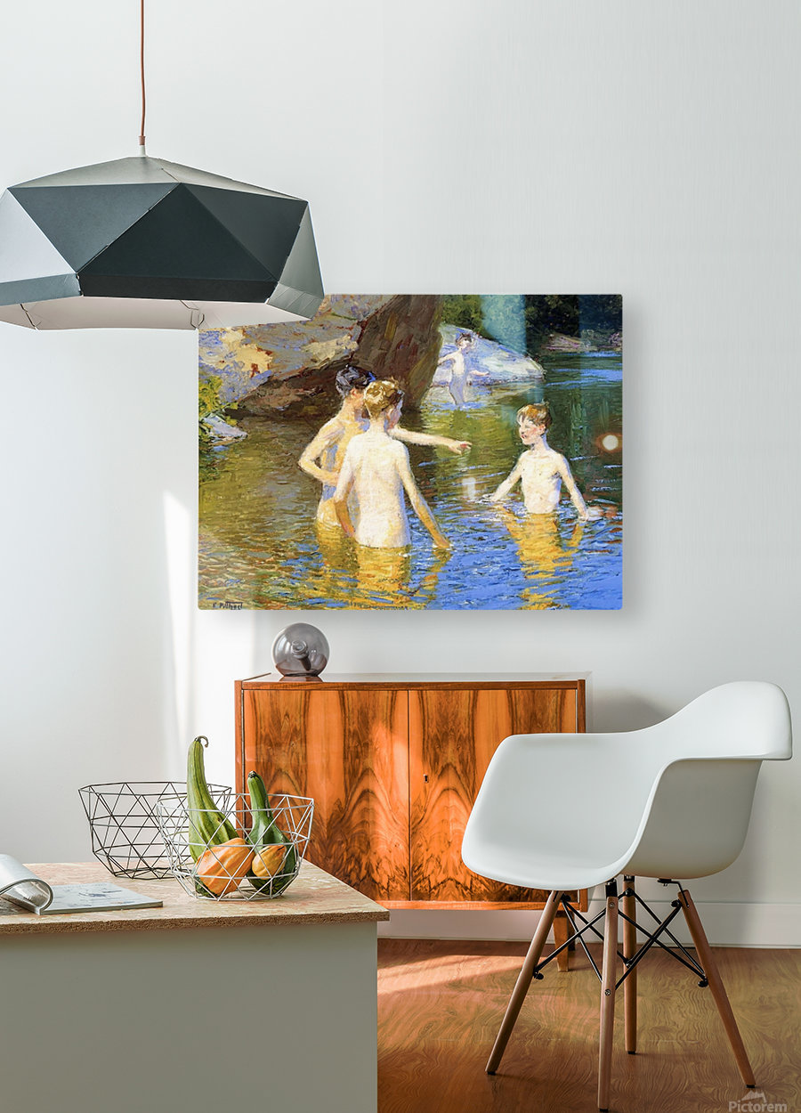 In the Summertime  HD Metal print with Floating Frame on Back