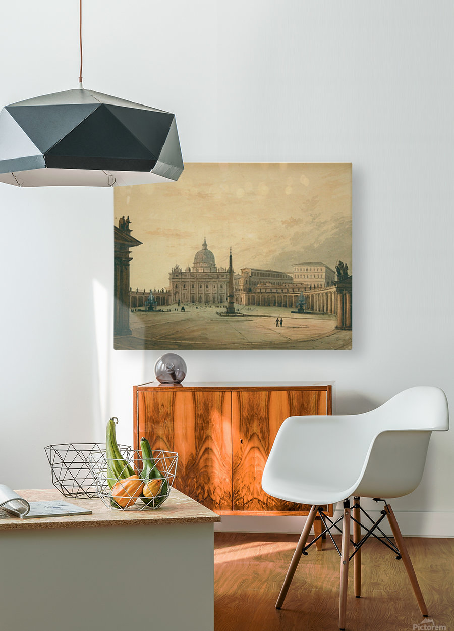 View of Saint Peter Square  HD Metal print with Floating Frame on Back