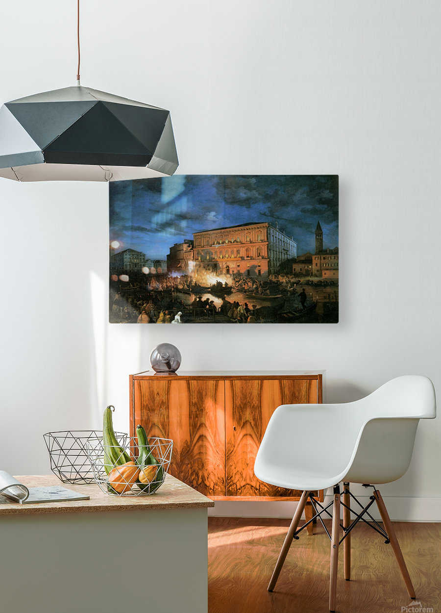 Festa a Venezia  HD Metal print with Floating Frame on Back