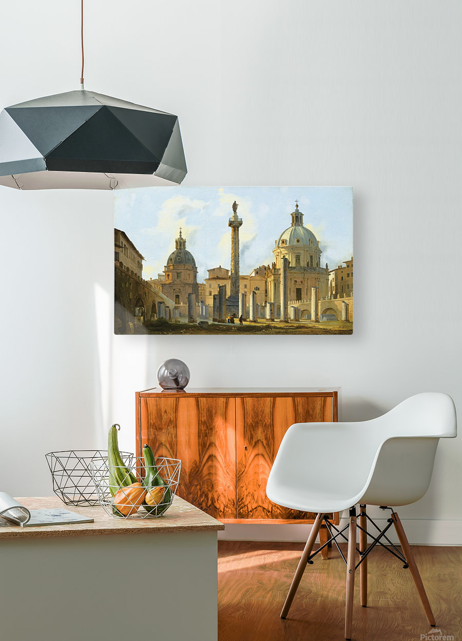 View of Trajan Forum in Rome  HD Metal print with Floating Frame on Back