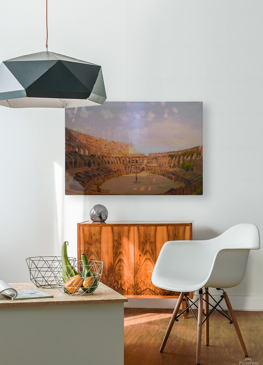 Interior of the Colosseum, 1857  HD Metal print with Floating Frame on Back